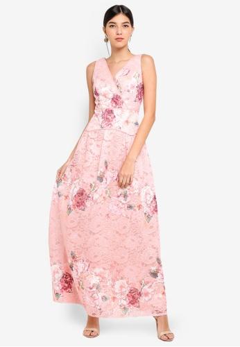 Little Mistress pink Pink Maxi Dress 412B4AA705DF8BGS_1