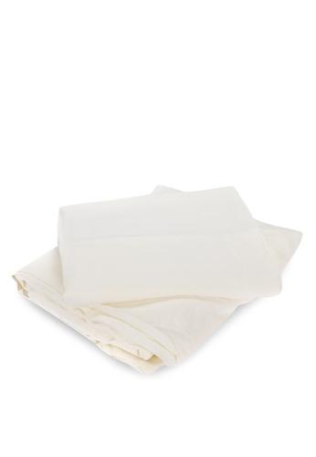 "Linen & Homes n/a 100% Bamboo 3 Piece Ivory Bedsheet Set - Twin Size (39 x 75 x 16"") E1C0FHLA1062C5GS_1"