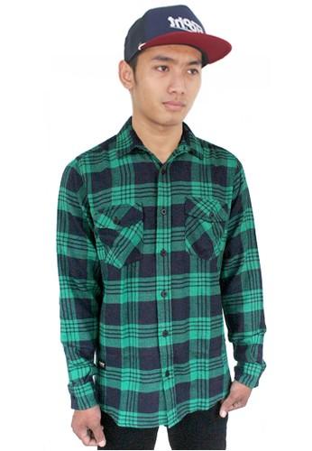 Eight Wardrobe green Eight Green Plaid Tartan Shirt 13F30AAA352A27GS_1