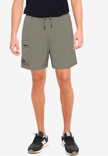 Abercrombie & Fitch green Apac Min-Logo Cargo Shorts 30C60AA0AB03FFGS_1