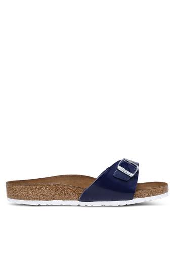 Birkenstock blue Madrid Patent Color Sandals BI090SH0RCODMY_1