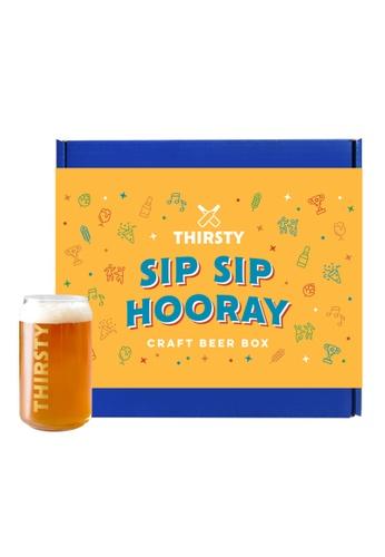 "Thirsty Thirsty ""Sip Sip Hooray"" Craft Beer Gift Box [7 Beers + 1 FREE Glass] 3B662ES51E1C32GS_1"