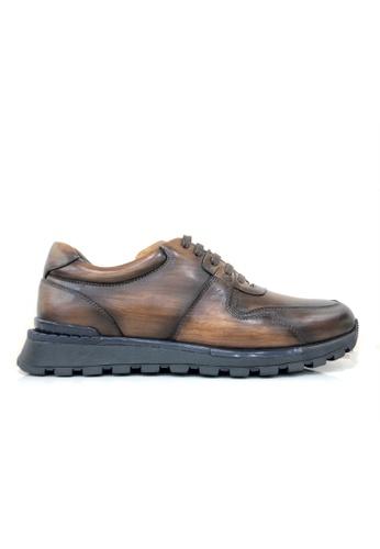 Giorostan brown Men Casual Shoes 59E22SH8E4E5D8GS_1