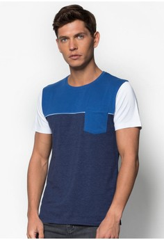 Cut And Sew Tee With Colourblocking Detail