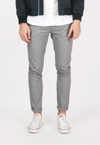A for Arcade grey Parker Slim-Fit Chinos in Grey 70D09AA239EE90GS_1