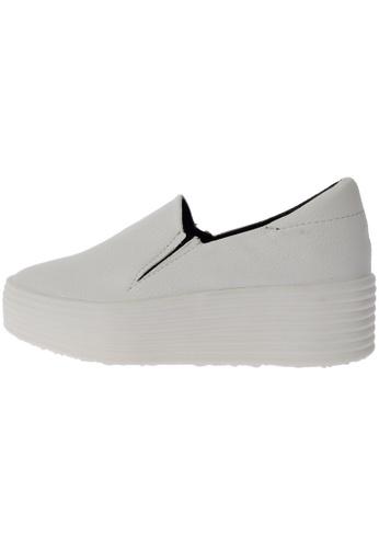 Maxstar 568 Synthetic Leather White Platform Slip on Sneakers US Women Size MA168SH40DJJHK_1