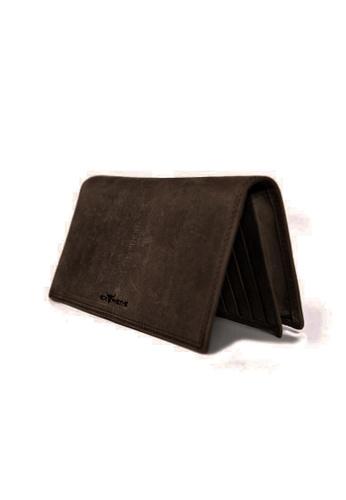 EXTREME brown Extreme Genuine Leather Long Wallet Multiple RFID Protected Card Slots Dark Brown B45EEACDDF7093GS_1