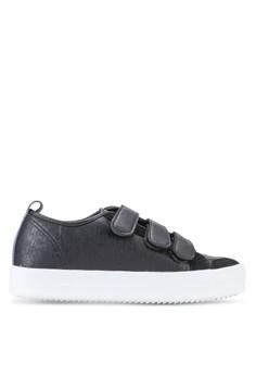 Crystal Korea Fashion 人造皮革粘合運動鞋