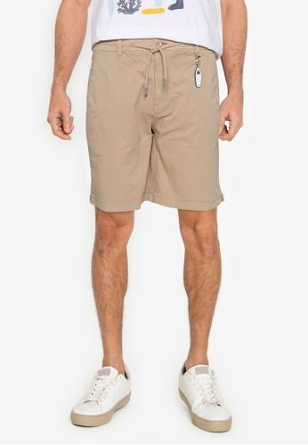 Springfield beige Beach Bermuda Shorts With Key Ring 914DEAAB666243GS_1