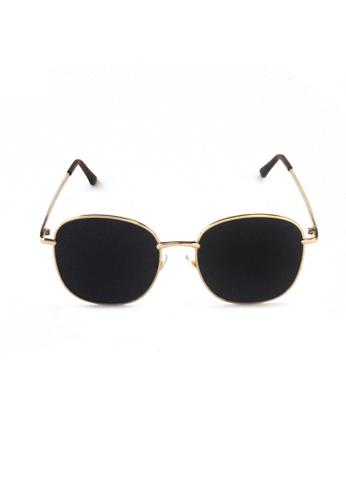 2i's to eyes black Sunglasses Polarized│Rectangular Round Frame│Black Lens│UV400 Protection│2is RenD 92964GL826D50CGS_1