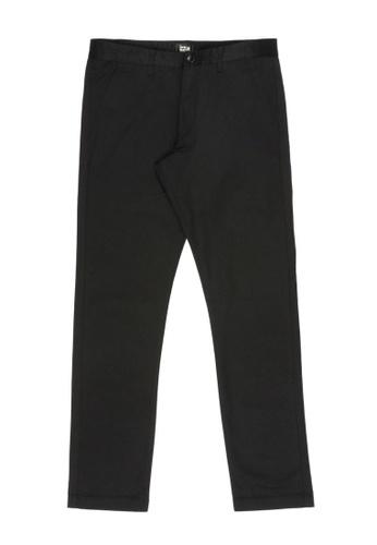 izzue black Straight cut chino pants 9620CAA085A5DBGS_1