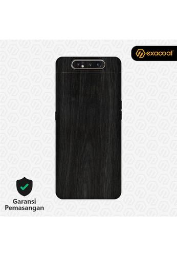 Exacoat Galaxy A80 3M Skins Wood Series - Wood Ebony 1CAE7ES656B333GS_1
