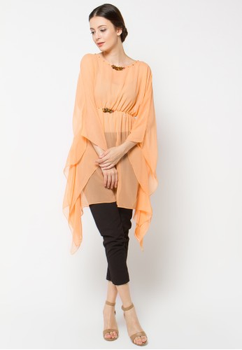 LUIRE by Raden Sirait orange Tunik LU460AA84XZBID_1