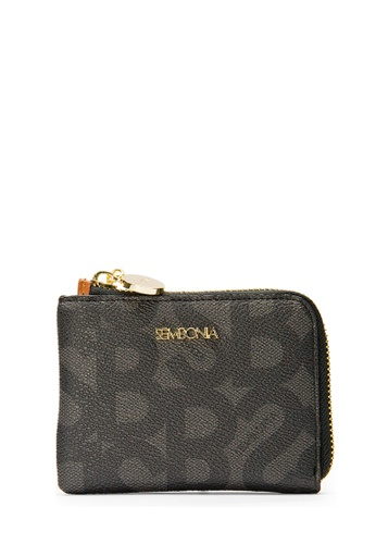 SEMBONIA black SEMBONIA Coated Canvas Trimmed Leather Accordion Wallet (Black) 7822EACEBDBE26GS_1