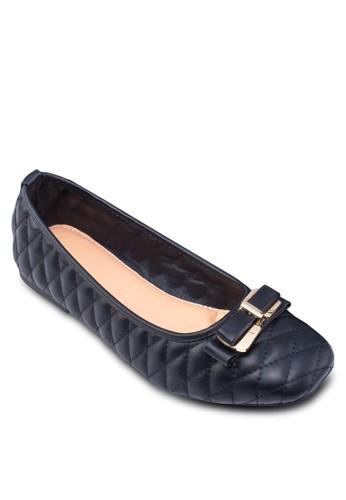 菱格雙蝴蝶結娃娃鞋, 女zalora taiwan 時尚購物網鞋, 鞋