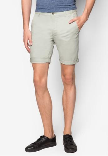 水洗彈性休閒短褲,esprit tw 服飾, 服飾