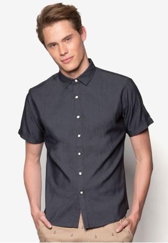 修身短袖襯esprit門市地址衫, 服飾, 襯衫