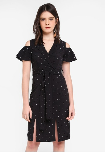 ZALORA black Off Shoulder Lapel Dress 1ECECAAEE98D6CGS_1