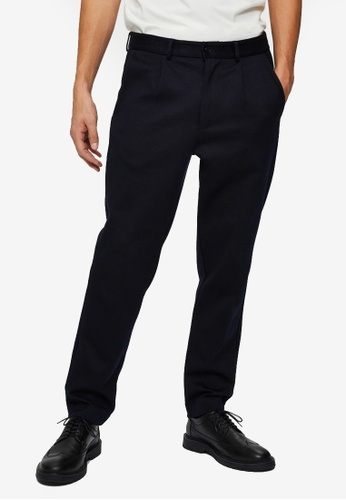 Selected Homme navy Hybrid Trousers 8CAE4AACC662DDGS_1
