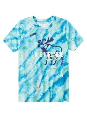 Abercrombie & Fitch blue Graffiti Print Logo T-Shirt 4C2E8KAEF88C1BGS_1