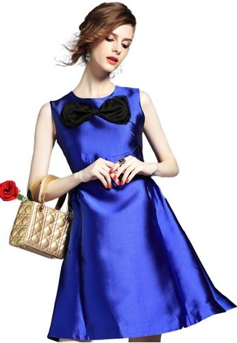 Sunnydaysweety blue Blue Bow A-Line One Piece Dress K200416032 35833AA3254E95GS_1