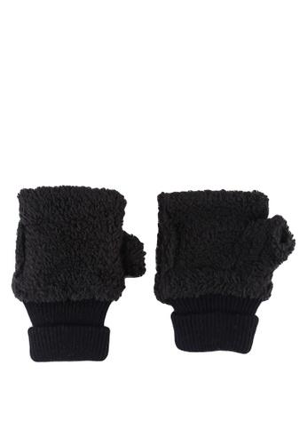 niko and ... black Hand Warmer Half Gloves C6E65ACD801989GS_1