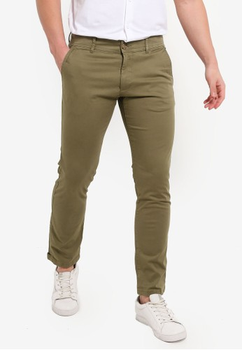 ESPRIT green Stretch Cotton Chinos 70048AA7DF21AFGS_1