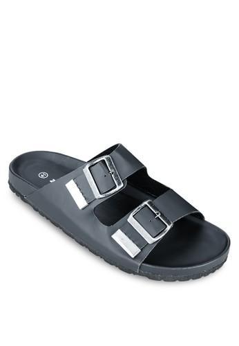 雙扣環帶基本款拖鞋, zalora退貨女鞋, 鞋