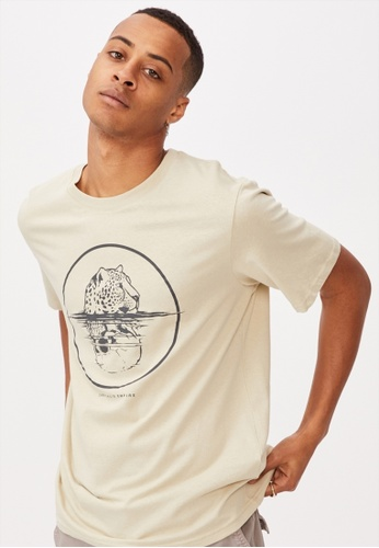 Cotton On beige Tbar Art T-Shirt 479D9AA6281029GS_1