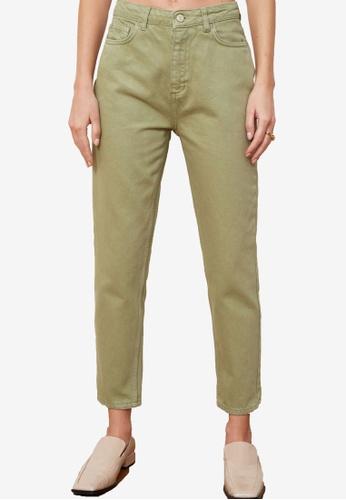 Trendyol green High Waist Mom Jeans CB790AA425E33BGS_1
