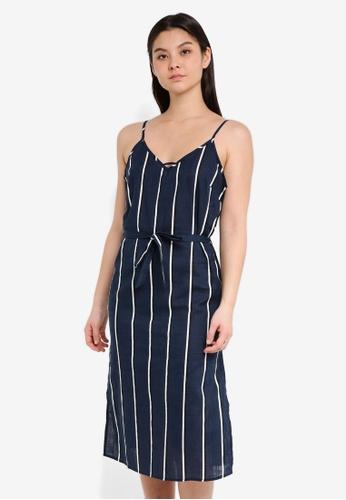 Cotton On navy Woven Marce Midi Slip Dress 6DCD0AA4F2AD10GS_1