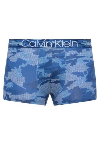 Calvin Klein blue Camo Micro Low Rise Trunk 92716US44203CEGS_1
