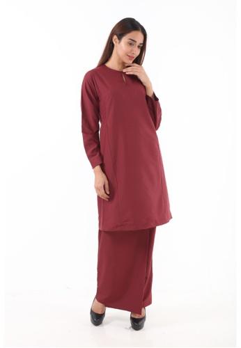 Amar Amran red Baju Kurung Pahang Qirana F6AAAAA46CFB77GS_1