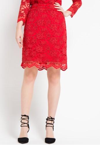 EPRISE red Skirt Midi EP457AA74WYFID_1