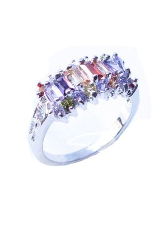 San Marco multi and silver Cattelya Ring Silver SA720AC0VYLCID_1