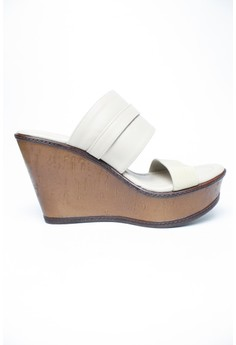 Edcy Slide Cork Wedge