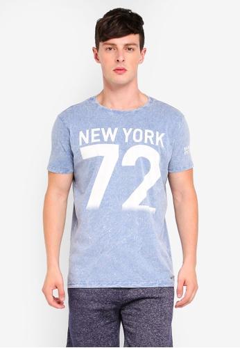 Brave Soul blue Short Sleeve Crew Neck T-Shirt D9458AA833AEDAGS_1