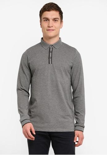 ESPRIT grey Polo Shirts Long Sleeve ES374AA0SJ7XMY_1