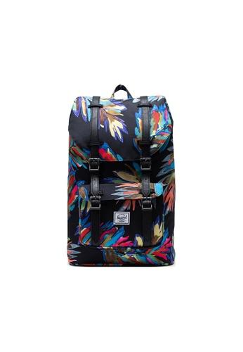 Herschel blue Herschel Little America Mid-Volume Backpacks - Painted Palm DCC6AACDF45833GS_1