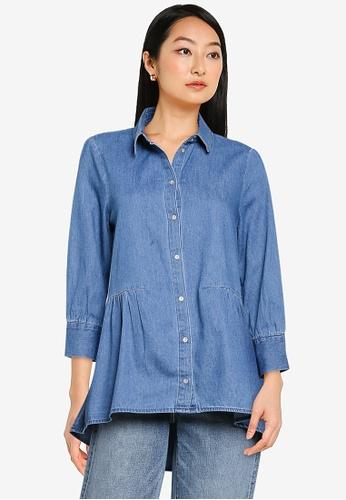 ONLY blue Canberra Denim Shirt 7BBDAAA9A2AAB6GS_1