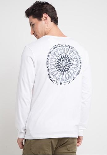 Quiksilver white Mandalaa Long Sleeve T-Shirt 94609AA2266148GS_1