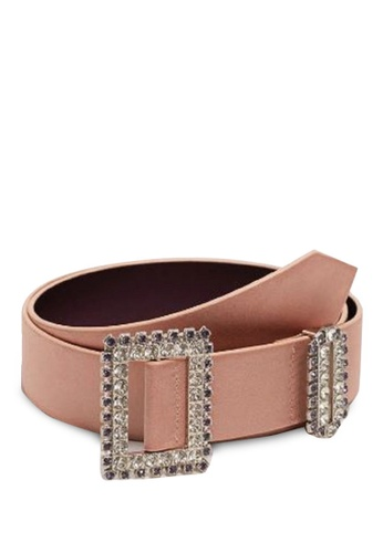 Mango pink Strass Buckle Belt 67845AC7EA9732GS_1