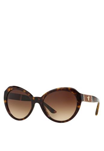 Rock Icesprit台灣ons 皮革Medusa 太陽眼鏡, 飾品配件, 大框