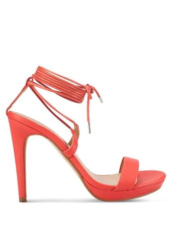 ZALORA orange Lace Up High Heels 9E160SH6A6A409GS_1