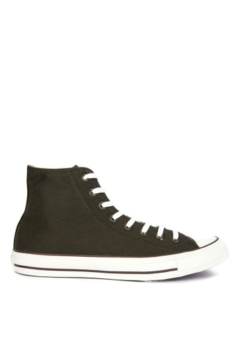 Converse green Chuck Taylor All Stars Seaonal Color Canvas Sneakers DB0F9SH664EE99GS_1