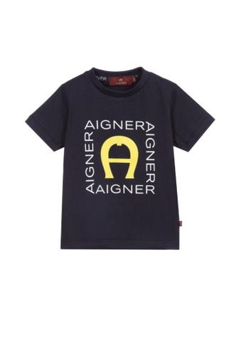 AIGNER KIDS blue AIGNER BABY BOYS T-SHIRT C2ED9KAF0C8E3DGS_1