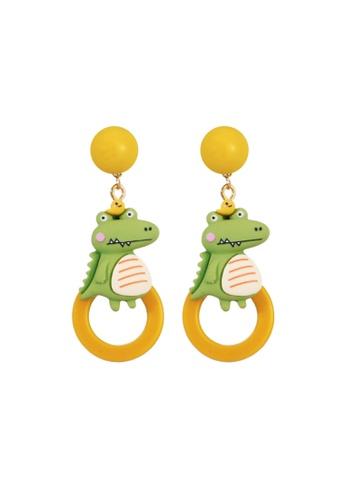 Kings Collection green Crocodile Baby Earrings (KJEA20022) 61A02ACBDD1FECGS_1