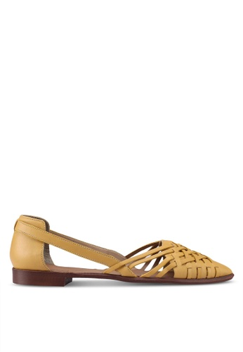 TOPSHOP yellow Woven Point Shoes A9E14SH21201FBGS_1