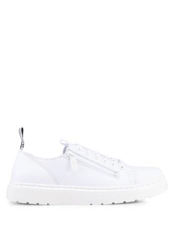Dr. Martens white Vibe Ath Leisure Dante Zip 6 Eye Sneakers DR086SH0SX6FMY_1