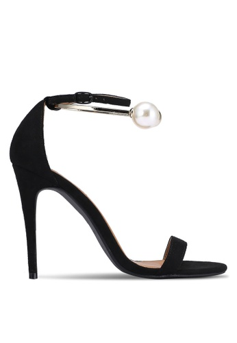 ZALORA black Heels With Pearl Anklet FD89ASHB8FC680GS_1
